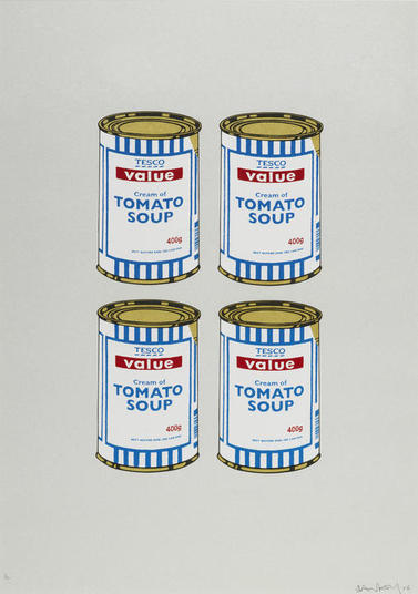 Banksy - Four Soup Cans Quad - Rare Signed Print with COA
