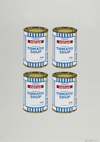 Banksy - Four Soup Cans (Gold Top) (Signed Edition of 12)