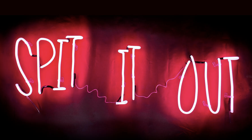 Andy Doig - Spit It Out Neon Art Brighton