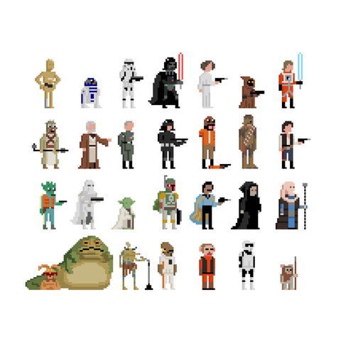 30 Squared - I Find Your Lack Of Pixels Disturbing - Signed Star Wars Print by Jim'll Paint It