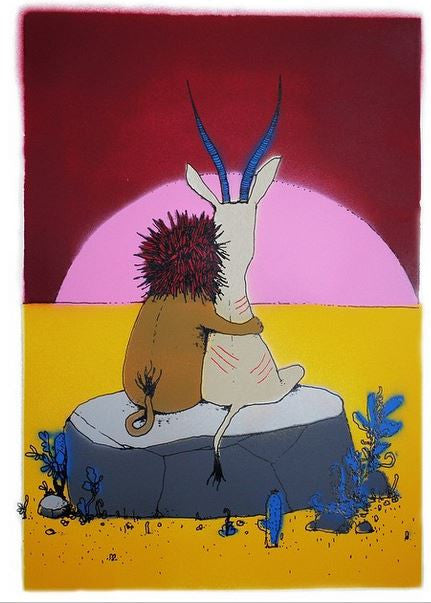 Dran - Sunset - Signed Hand-Painted Multiple / Print from Pictures On Walls (POW)