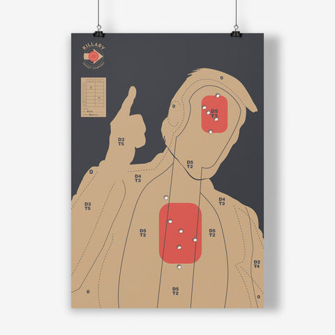 BKD - Trigger Trump (Screenprint Shot With Real Bullets)