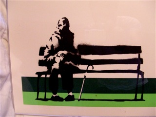 Banksy Screenprint - Signed Weston Super Mare Lime Green Artist Proof Print