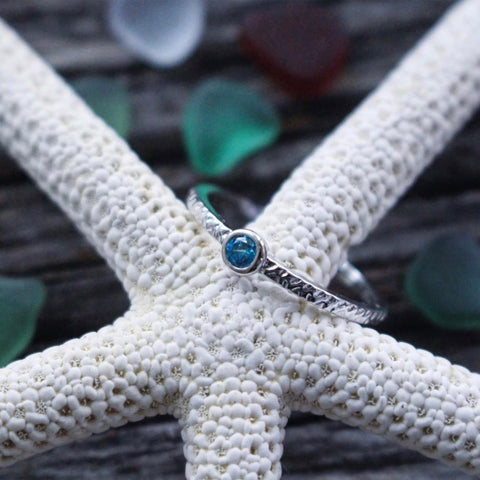 Blue Gem Sterling Silver Ring