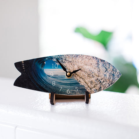 Fiji Wave Surfboard Table Clock