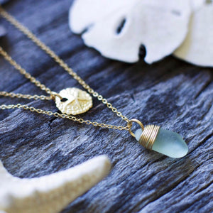 Seafoam Layering Set Gold Filled Necklace
