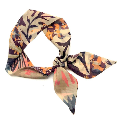 Abstract Silk Hair Scarf | Neck Tie