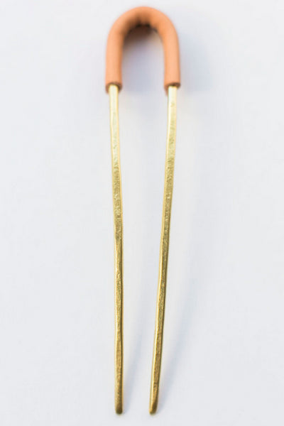 Leather Hair Pin
