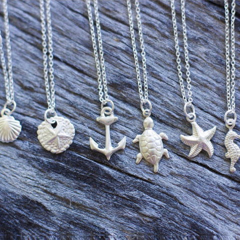 Ocean Sterling Silver Layering Necklace