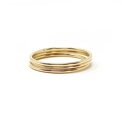 Gold Filled Stacking Ring Set