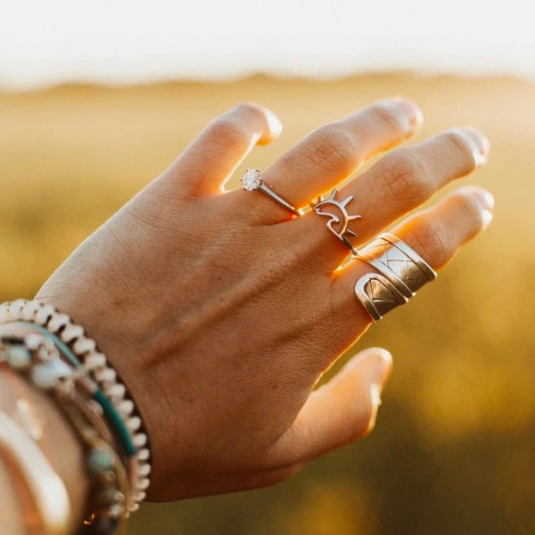 Sunset Sterling Silver Ring