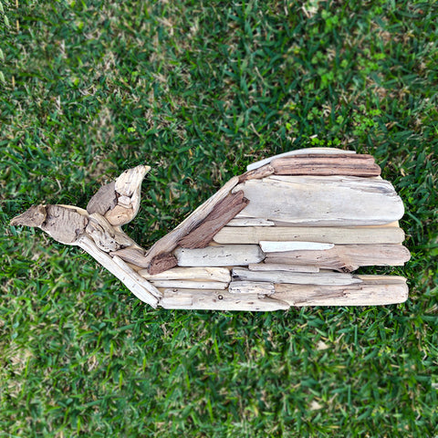 Driftwood Whale Decor