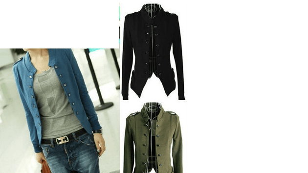 Women's Epaulet Military Style Jacket - TrendSettingFashions