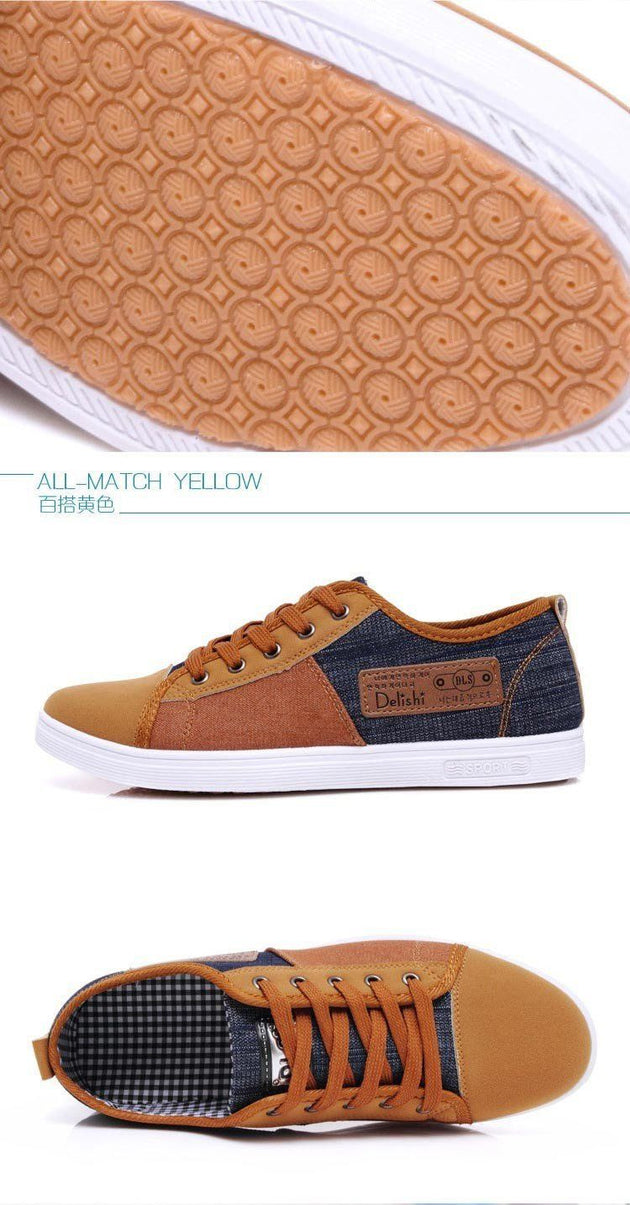 Men's Breathable Patchwork Shoes - TrendSettingFashions