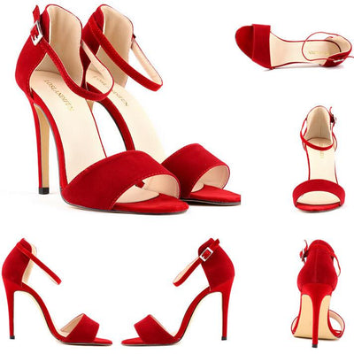 Women's High Heeled Open Toe - TrendSettingFashions