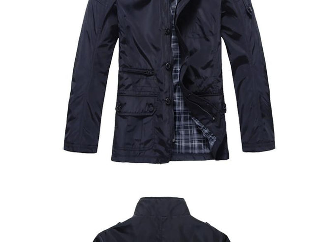 Men's Stand Collar Jacket - TrendSettingFashions