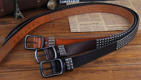 Genuine Leather Rivet Belt Style 2