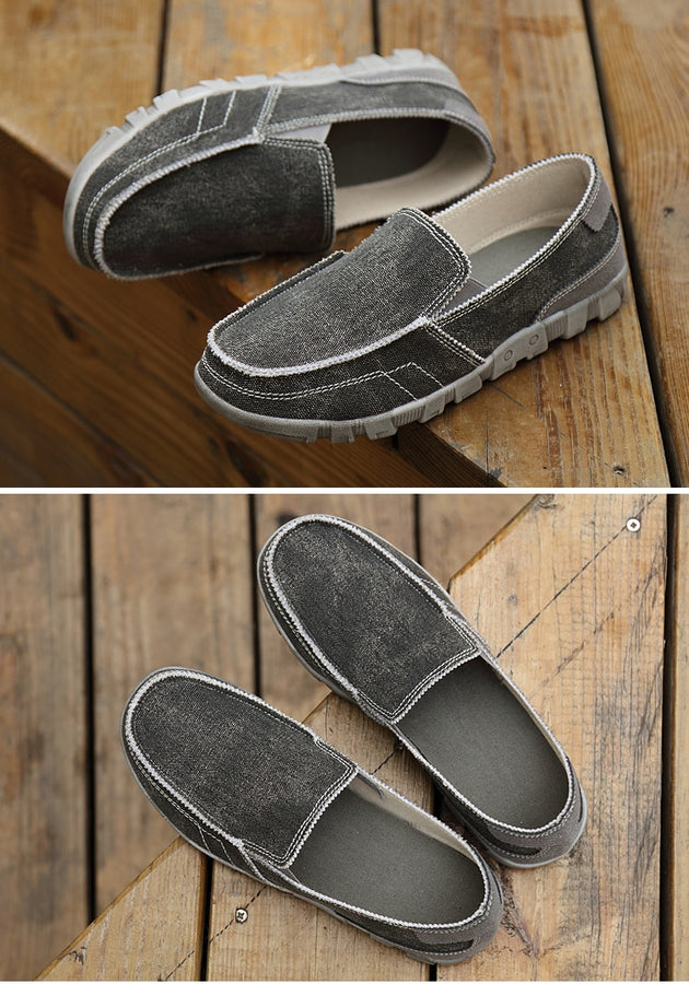 Men's Jean Inspired Flats Up To Size 10.5 - TrendSettingFashions
