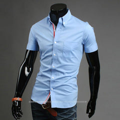 Men's Short Sleeve Business Shirt - TrendSettingFashions   - 1