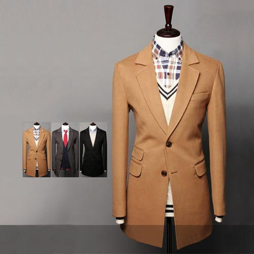 Men's High End Long Coat - TrendSettingFashions   - 2