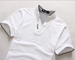 Men's Short Sleeve Solid Polo Shirt - TrendSettingFashions   - 2