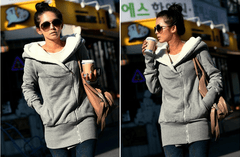 Soft Zip up Hoodie with STYLE - TrendSettingFashions   - 1