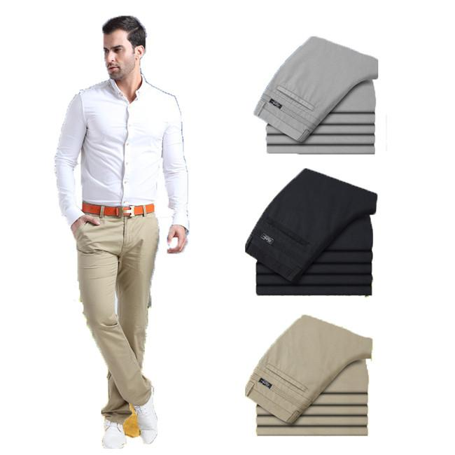 Men's Mid Rise Dress Trousers - TrendSettingFashions