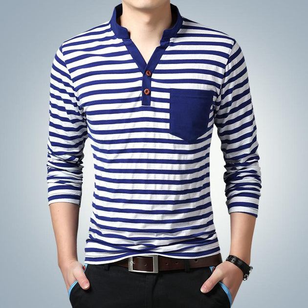 Men's Fashion Striped T-Shirt - TrendSettingFashions