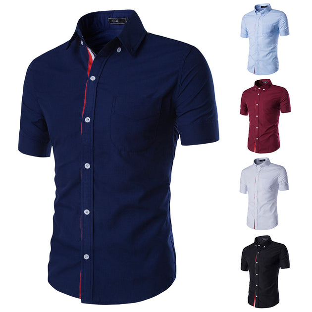 Men's Solid Collar Fashion Dress Shirt - TrendSettingFashions