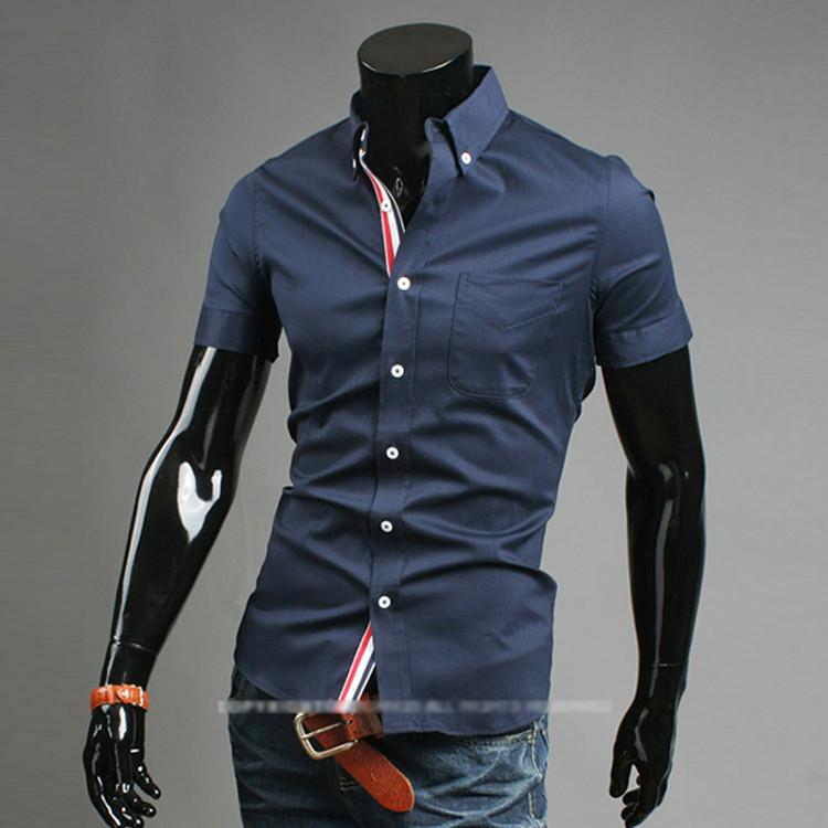 Men's Short Sleeve Business Shirt - TrendSettingFashions   - 2