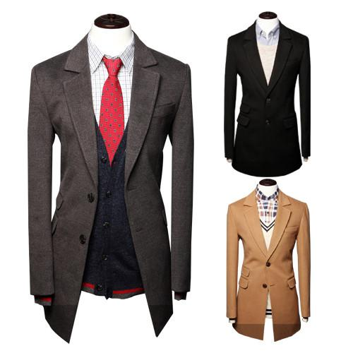 Men's High End Long Coat - TrendSettingFashions   - 1