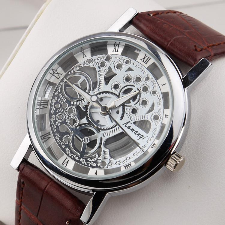Men's Stainless Steel Fashion Skeleton Watch - TrendSettingFashions   - 1