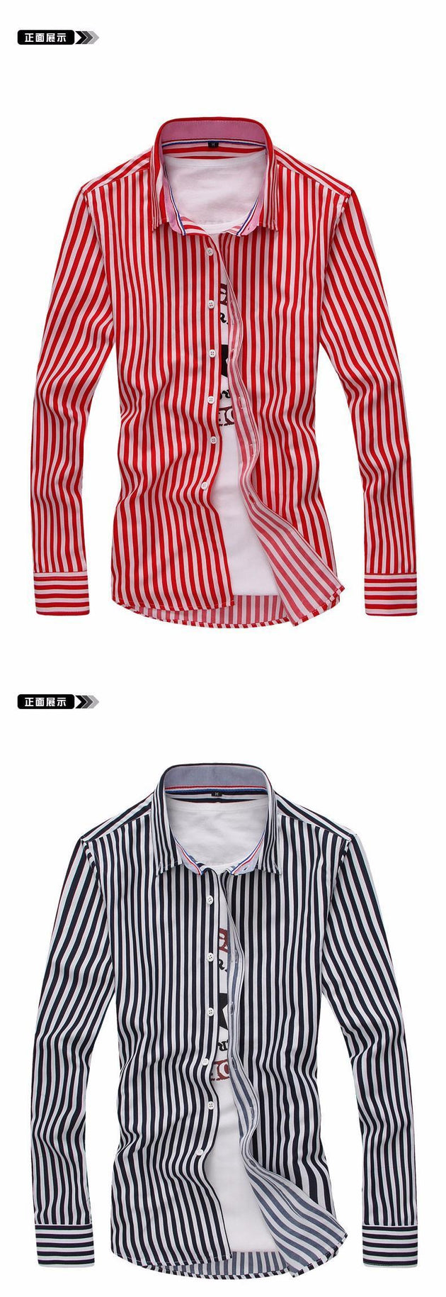 Men's Striped Dress Shirt - TrendSettingFashions