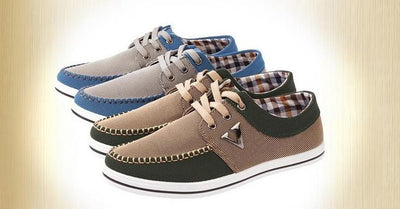 Men's Lace up All Match Canvas Shoe - TrendSettingFashions   - 1