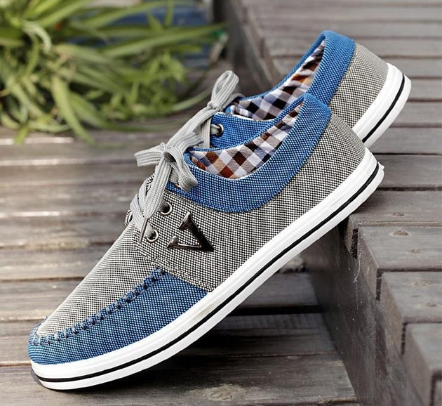 Men's Lace up All Match Canvas Shoe - TrendSettingFashions   - 3