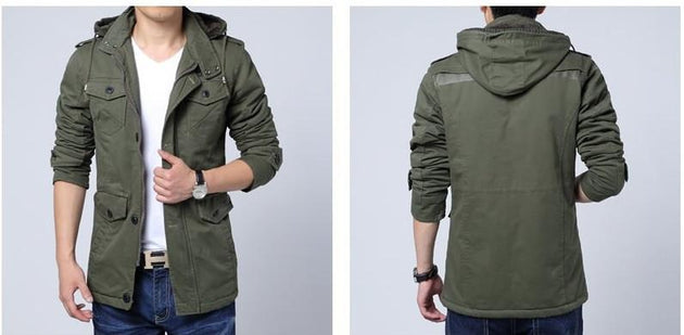 Men's Fashion Velvet Hood Jacket - TrendSettingFashions