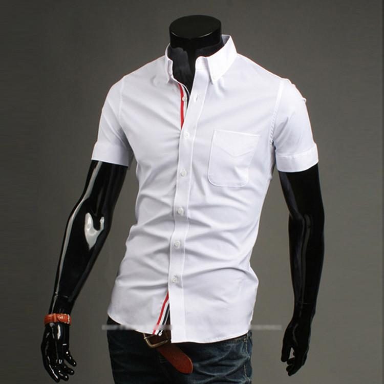 Men's Short Sleeve Business Shirt - TrendSettingFashions   - 3