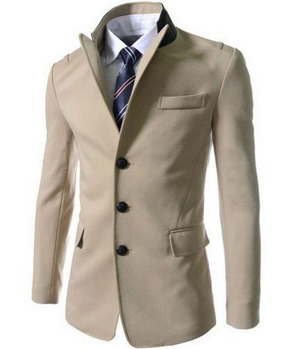 Men's Single Breasted Dress Jacket - TrendSettingFashions   - 1