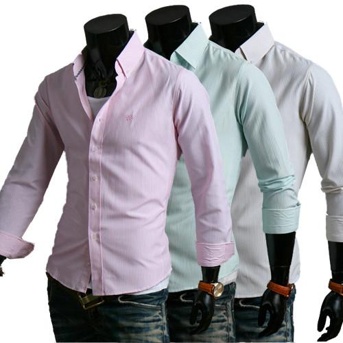 Men's Clean Stripe Dress Shirt - TrendSettingFashions