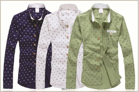 Men's Fashion Imprinted Dress Shirt