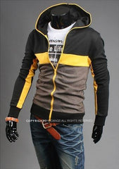 Men's Full Zip 3 tone Jacket Hoodie - TrendSettingFashions   - 2