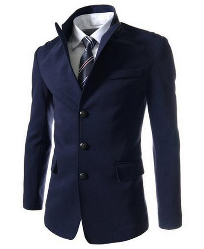 Men's Single Breasted Dress Jacket - TrendSettingFashions   - 3