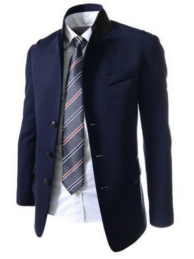 Men's Single Breasted Dress Jacket - TrendSettingFashions   - 4