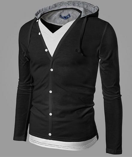 Men's Full Button Hoodie - TrendSettingFashions   - 1