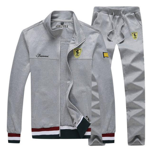 Men's Tracksuit With Stand-Collar - TrendSettingFashions