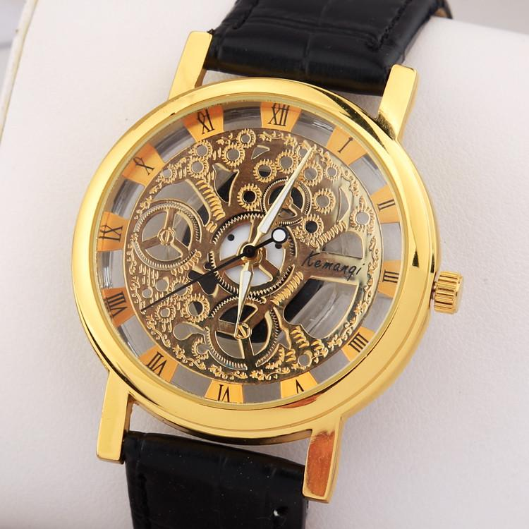 Men's Stainless Steel Fashion Skeleton Watch - TrendSettingFashions   - 4