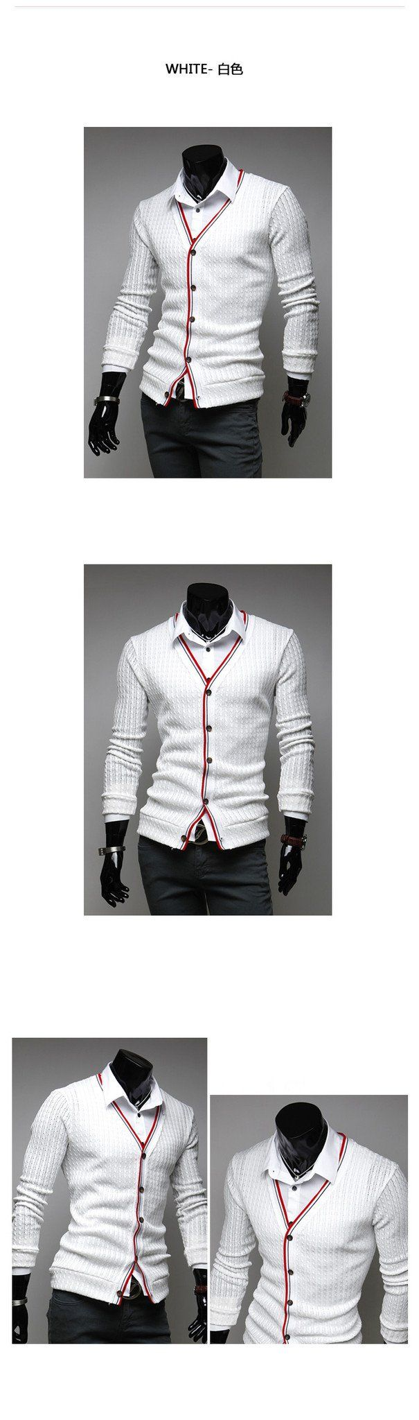 Men's Fashion Cardigan - TrendSettingFashions   - 3