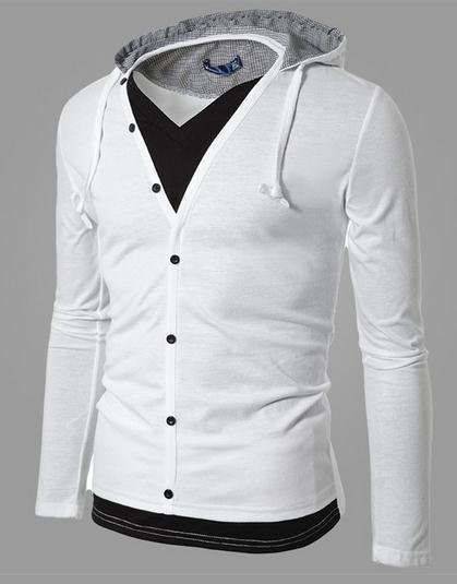 Men's Full Button Hoodie - TrendSettingFashions   - 3