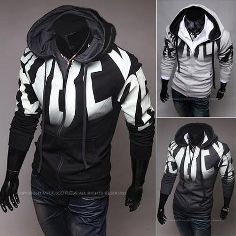 Men's Zip Up Hoodie/Statement