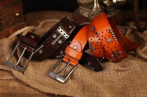 Leather, Steel Designs Fashions Belt